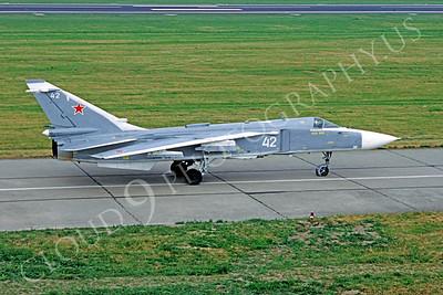 Su-24 00009 Sukhoi Su-24 Fencer Soviet Air Force June 1992 by Wilfried Zetsche