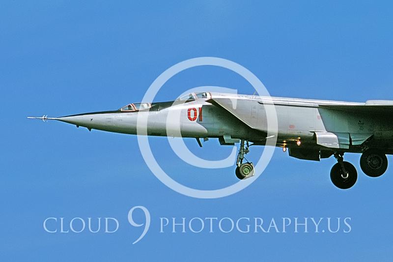 CUNMJ 00074 Mikoyan-Gureyvich MiG-25PU Foxbat Soviet 1991 by Wilfried Zetsche AirDOC Collection