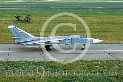 SU-24 00007 Sukhoi Su-23 Fencer Sovet 1992 by Wilfried Zetsche via AirDOC Collection