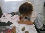 Children_colouring_mushrooms
