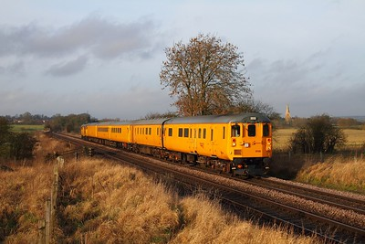 DBSO 9708 tnt 31285 on 3Z10 Derby RTC to Old Dalby at Copleys Brook near Melton Mowbray on the 3rd February 2014