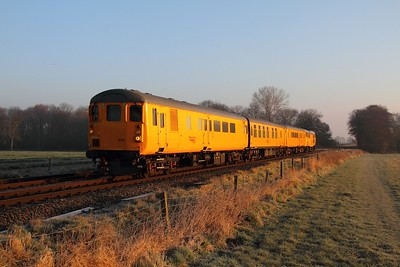 DBSO 9714 tnt 31105 on the 3Z10 Peterborough to Derby RTC at East Goscote on the 1st March 2014