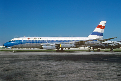 Onyx Aviation Convair 880-22M-21 N48063 (msn 56) (Four Winds colors) MIA (Bruce Drum). Image: 103178.