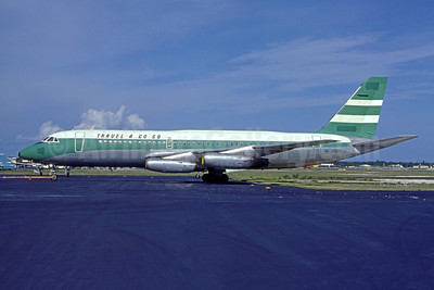 Travel A Go Go Convair 880-22M-3 N48058 (msn 22-00-43M) (Cathay Pacific colors) FLL (Nigel P. Chalcraft - Bruce Drum Collection). Image: 950558.