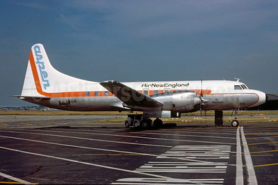 Air New England-Aspen Airways Convair 580 N5818 (msn 128 (Aspen Airways colors) LGA (Bruce Drum Collection). Image: 922025.