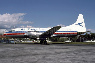 Air Freight NZ Convair 580 (F) ZK-FTA (msn 168) AKL (Bernd Luettjohann - Bruce Drum Collection). Image: 951580.