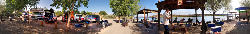 The Convair WSC at the day use area at the upper launch ramp at Picacho State Recreation Area<br /> <br /> Use size 'O' to view full size panorama.