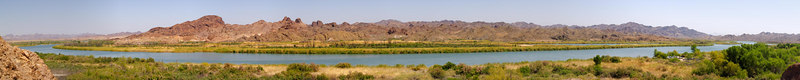 The Colorado River at Picacho. Upstream from the upper launch ramp, visible in the low trees at the far right.<br /> <br /> Use size 'O' to view full size panorama.