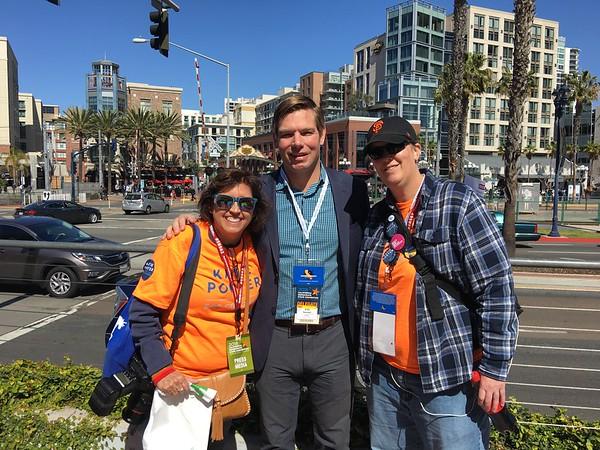 Me, Eric Swalwell & Kelly. San Diego, 2018.
