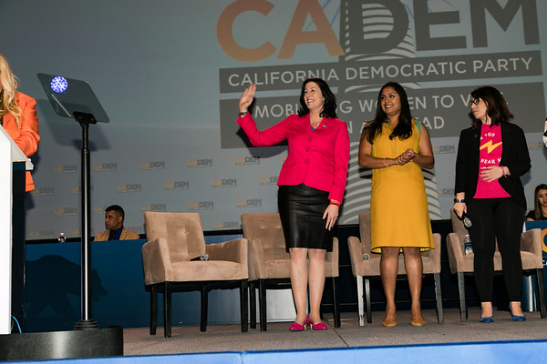 Christine Pelosi (waving)