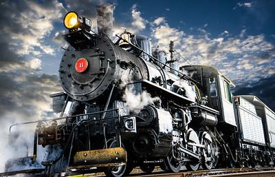 Steam Train Side Display 56x36