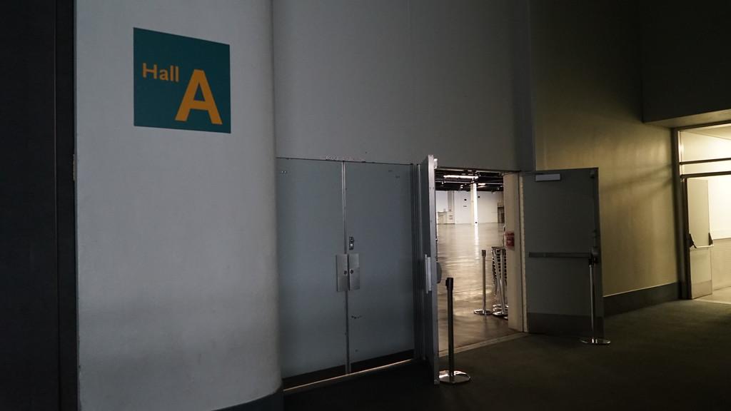 Hall A Entrance