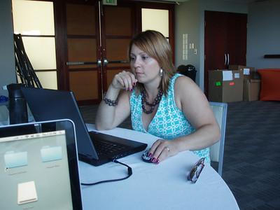 Lisa Cole Miller - hard at work!