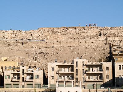 Roman ruins above Amman Jordan