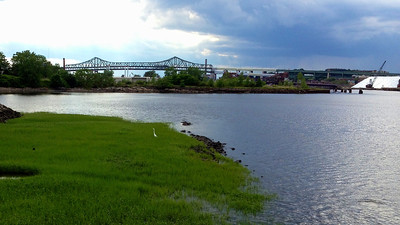 Tobin Bridge & Chelsea Creek from East Boston