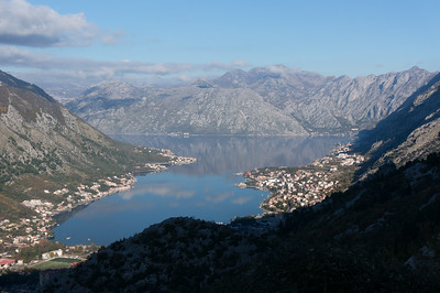 Overlooking Muo and Kotor on Boka Bay