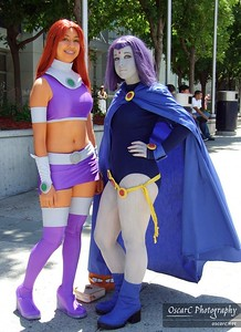Raven and Starfire (Teen Titans)
