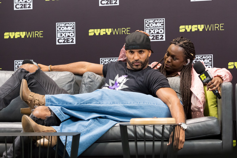 2018 C2E2 - Ricky White and Yetide Badaki Talk American Gods