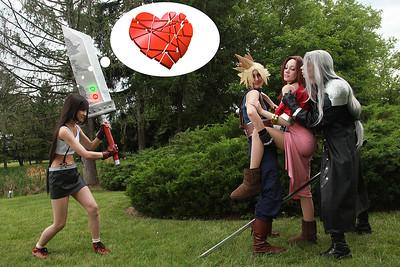 Tifa Lockhart vs. Cloud Strife, Aerith Gainsborough, & Sephiroth