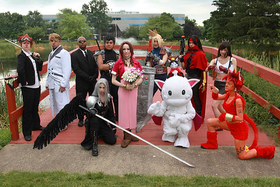 Reno, Rufus Shinra, Zack Flair, Rude, Cloud Strife, Vincent Valentine, Tifa Lockhart, Sephiroth, Aerith Gainsborough, Caith Sith, & Red XIII