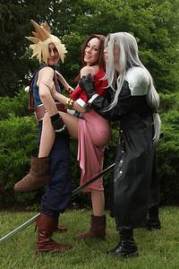 Cloud Strife, Aerith Gainsborough, & Sephiroth