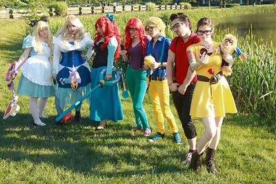 Alice, Cinderella, Ariel, Ariel, Flounder, Gaston, & Belle