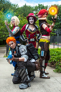 Maya, Mad Moxxi, Lilith, & Axton