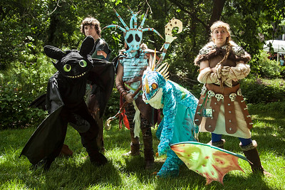 Toothless, Hiccup Horrendous Haddock III, Valka, Stormfly, & Astrid Hofferson