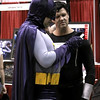 Random costumed Batman and Superman