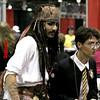 Random costumed - Captain Jack Sparrow & Harry Potter