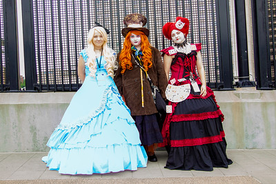 Alice Kingsleigh, The Mad Hatter, & The Queen of Hearts