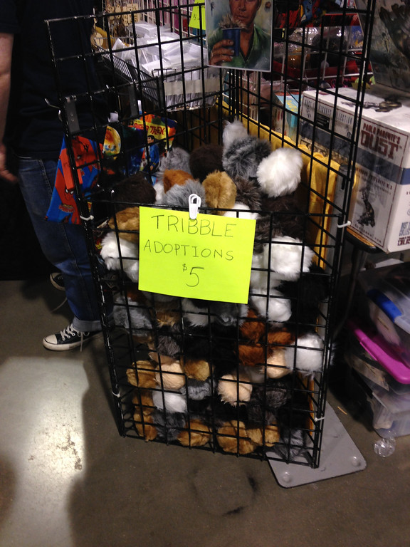 . Tribble adoptions at Geeks with Scissors at Motor City Comic Con in Novi on Friday, May 16.