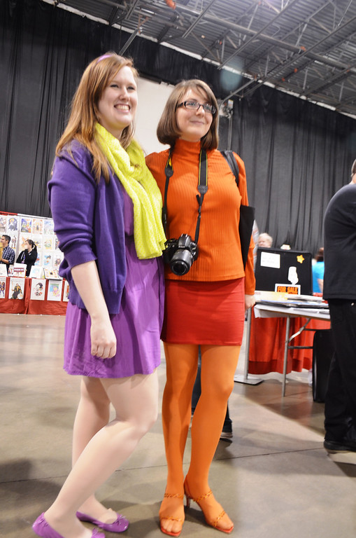 . Images from Friday May 16 at the Motor City Comic Con in Novi, Michigan. Two of the Scooby gang at the #Motorcitycomiccon - Meagan Griffin & Linzy Barr from Bay City  Photo by Dave Herndon.