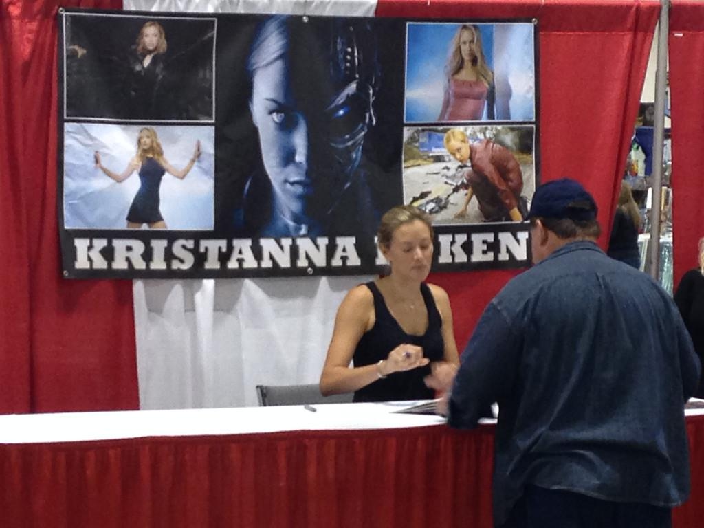 . Kristanna Loken at Motor City Comic Con, Friday May 16. Photo by David Komer