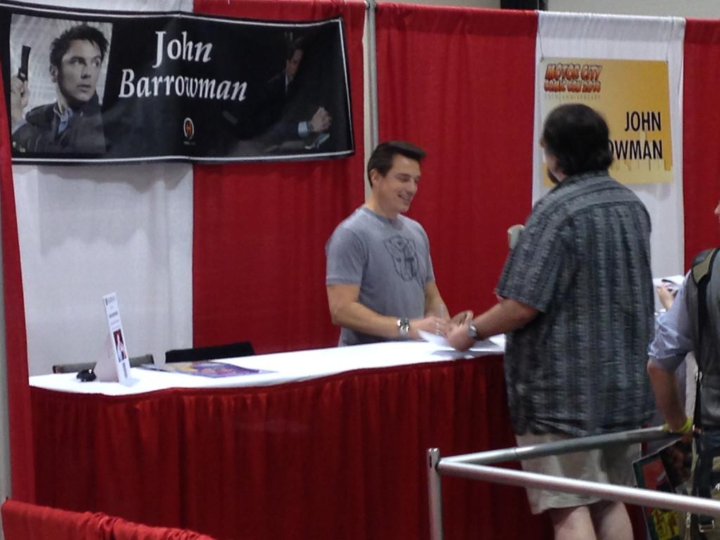 . John Barrowman from Friday May 16 at Motor City Comic Con. Photo by David Komer