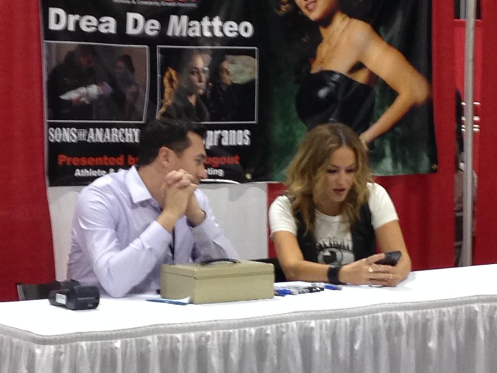 . Drea De Matteo at Motor City Comic Con, Friday May 16. Photo by David Komer