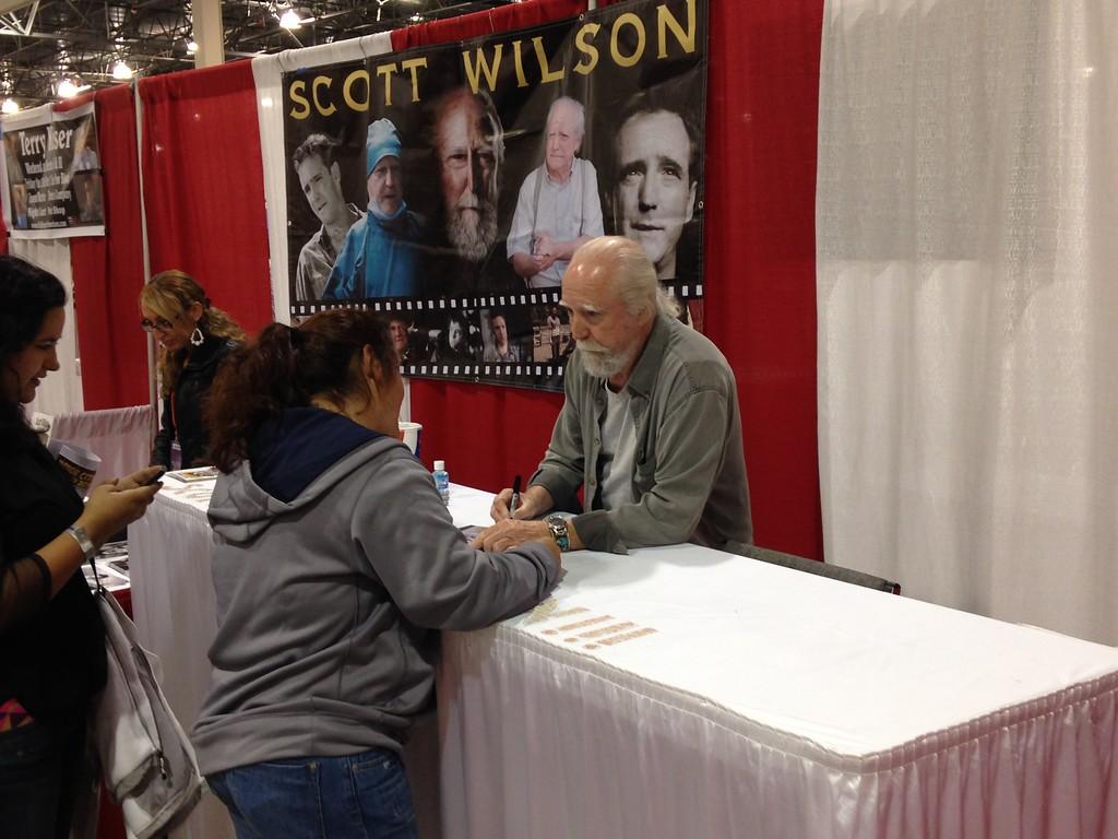 . Scott Wilson from Walking Dead Friday at Motor City Comic Con Friday Nov. 16. Photo by David Komer