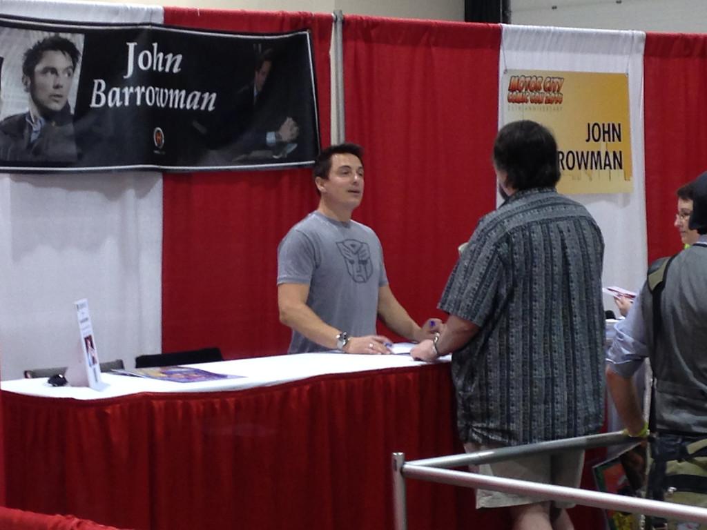 . John Barrowman at Motor City Comic Con, Friday May 16. Photo by David Komer
