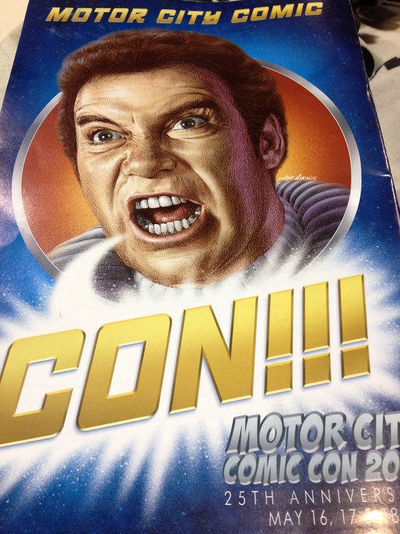 . The back cover of the 25th annual Motor City Comic Con program.  Photo by Dave Herndon.