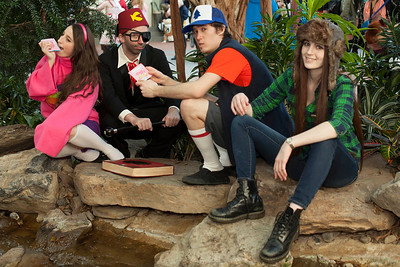 Mabel Pines, Stanford Pines, Dipper Pines, & Wendy Corduroy