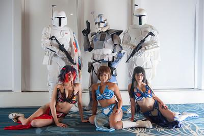 Mandalorians, Clone Trooper Specialist, Ryuko Matoi, Mako Mankanshoku, & Satsuki Kiryuin