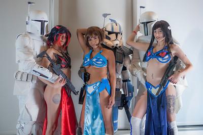 Mandalorians & Clone Trooper Specialist with Ryuko Matoi, Mako Mankanshoku, & Satsuki Kiryuin