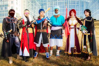 Volke, Deadlord Swordmaster, Ike, Mordecai, Titania, & Soren