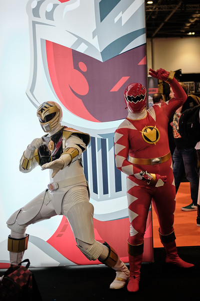 Mighty Morphin (Left) Dino Thunder (Right)
