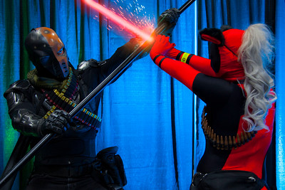 Deathstroke vs. Neko Lady Deadpool