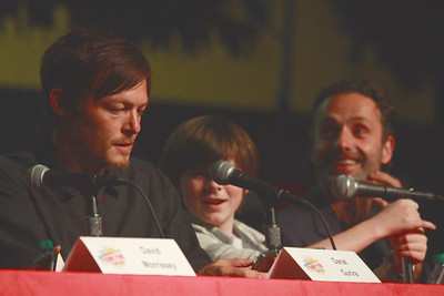 The Walking Dead: Norman Reedus, Chandler Riggs, & Andrew Lincoln