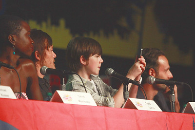 The Walking Dead: Dania Gurira, Norman Reedus, Chandler Riggs, & Andrew Lincoln