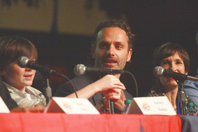 The Walking Dead: Chandler Riggs, Andrew Lincoln, & Gale Ann Hurd
