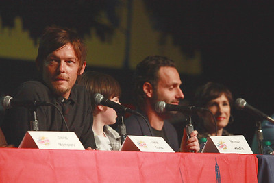 The Walking Dead: Norman Reedus, Chandler Riggs, Andrew Lincoln, & Gale Ann Hurd