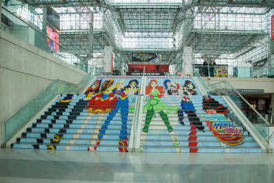 """DC's SuperHero Girls"" Staircase Artwork"